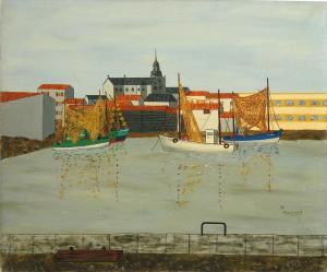 Bassin des Sables d'Olonne, 1960, Maurice Loirand - 46 x55 cm, huile sur toile, collection particulière, crédit photo Kenji Akatsuka